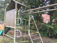 TP wooden climbing frame & slide
