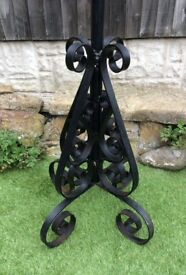 Old Rustic Wrought Iron Coat Stand