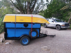 Epic u-built utility trailer with side storage and heavy framing
