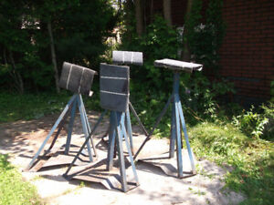 Sailboat 4 heavy duty stands/cradle used for 28' boat.