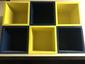 Wood storage cubes