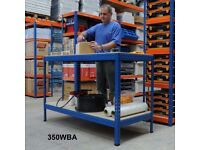 Industrial Workbench with 2 Chipboard Shelves 900h x 1400w x 600d