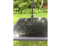 Large Black Garden Table