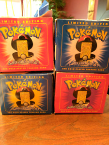 Pokemon Balls with 23k gold plated collectibles