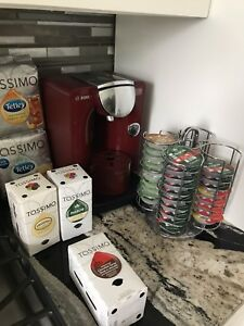 Tassimo T55 in Red with extras