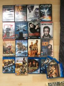 DVDs and blurays bundle