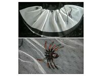 White and black tutu Halloween theme