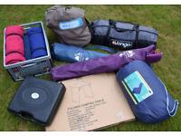 Complete Camping Gear Set, Vango Tent, Aerobed, Eurohike etc.