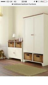 Kiddicare Vanilla acorns bedroom/nursery set. Wardrobe & changing cubard