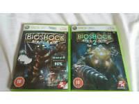 XBOX 360 GAMES - BIO SHOCK 1& 2