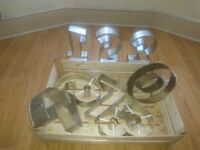 Numbered cake tins hardly used.