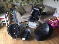 Mamas and Papas urbo buggy and isofix car seat