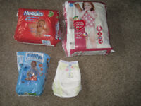 Pull-up nappies size 5 and 6