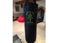 """Gold's Gym 36"""" Punch Bag and Gloves - Hardly used"""