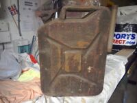 Vintage Jerry can stamped 1951 War Department