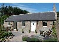 1 double bedroom holiday cottage or central base when working in Aberdeenshire