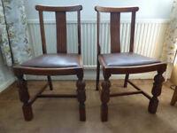 2 Oak Chairs - 1950s