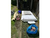 Job lot Climbing wall panels and holds