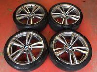 19'' GENUINE BMW 4 SERIES F30 F31 F32 442 STYLE 3 M SPORT E90 ALLOY WHEELS TYRES