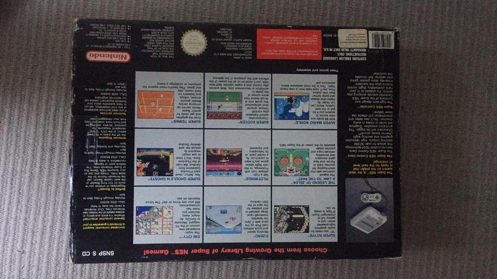 Boxed Super Nintendo Snes