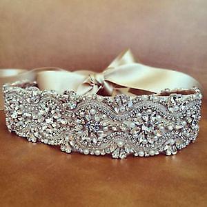 Luxury Wedding Sash - Belt With Beautiful Sparkle!