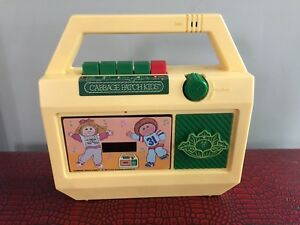 Vintage cassette player with recorder for kids