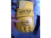 Eric Paulson signed mma glove she