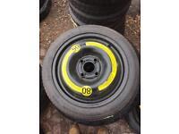 AUDI A2 14 inch 4 stud space saver wheel