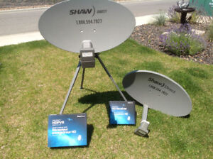 Shaw Sattelite Dishes, Receivers and Tripod