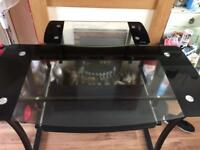 Glass computer table for sale need gone asap £40
