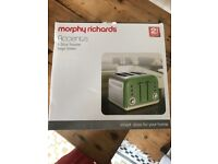 Murphy Richards Accents 4 Slice Toaster in Sage Green. Unopened in box, BRAND NEW!