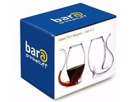 Glass Port Sippers - set of 2 -