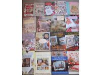18 CROSS STITCH BOOKS MAINLY H/B - HAD FOR SOME TIME 80/90/00's BUT GOOD - COLLECT ONLY BENFLEET