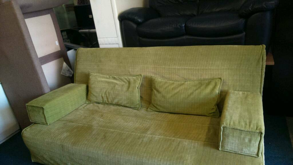 Sofa bed solid metal framein Sale, ManchesterGumtree - Sofa bed metal frame easy to use folds flat into a double bed nice thick mattress very good condition very very clean as a sofa its 6 foot wide unwanted item priced to sell bargain