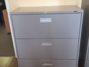 Two 3 drawer filing cabinets