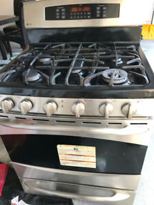 "Ge Profile 30"" Dual-Fuel Gas Stove Convection Range dual oven"