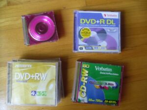 DVD+RW, CD-RW, DVD+R DL, mini CD-R