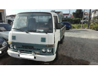Left hand drive Nissan Cabstar TD25 2.5 diesel 3.5 Ton single wheel truck.