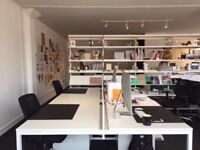 2 Desk spaces for rent, flexible terms in contemporary studio space, Worcester City Centre.