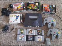 Nintendo 64 (N64), 2 controllers + 10 games