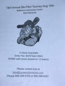 Coed Ball tournament.. $ 1000 cash prize (based on 12 teams )