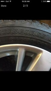 Snow tires -winter tires on Nissan Altima rims alloys 215/55/17