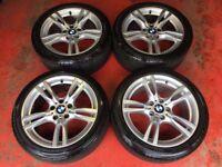 18'' GENUINE BMW 3 SERIES F30 F31 F32 400 STYLE 4 M SPORT E90 ALLOY WHEELS TYRES