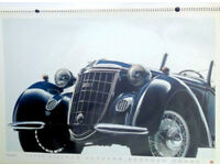 Rare Giant Official 1986 AUDI Motor Calendar featuring Auto Union 1930s cars Vorsprung aus Tradition