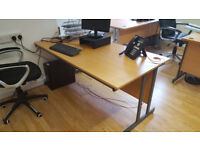 3 rectangular (1600mm width by 800mm) cantilever desks