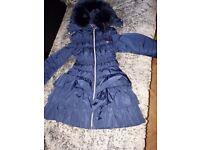 Navy Girls Designer coat