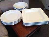 12 GIANT HABITAT SERVING PLATES/DISHES