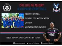CPFC ELITE PRE ACADEMY DEVELOPMENT CENTRE TRIALS