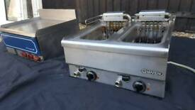 Commercial griddle x2 and fryer