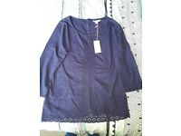 Womens size 10 White Stuff Navy Top Brand New with Tags